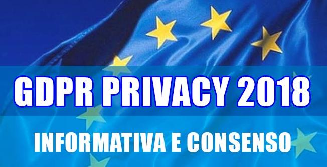 GDPR 2018 - Informativa e Privacy